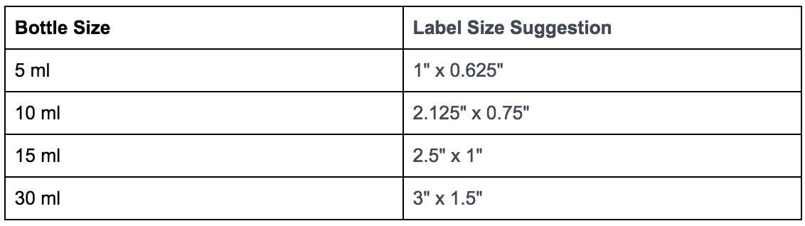 kích thước nhãn chai nhựa