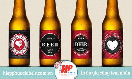 In chai bia ngày tính nhân độc đáo