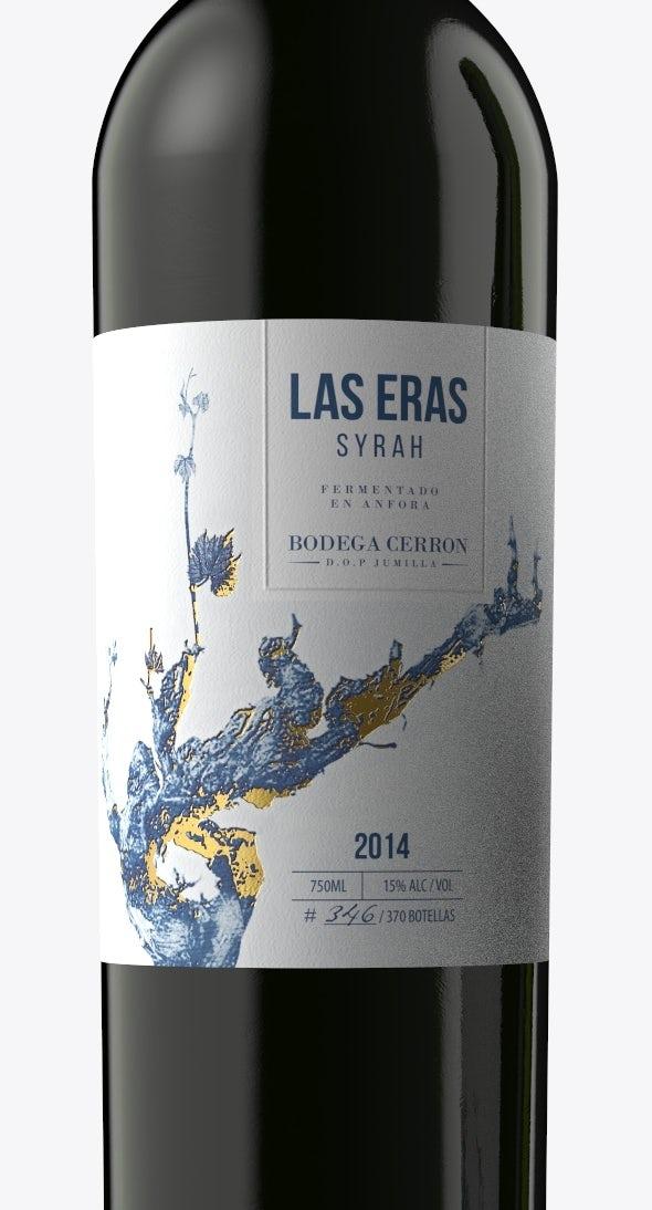 Nhãn này cho thấy hai màu được chọn tốt có thể tạo ra một thiết kế nổi bật như thế nào. Thiết kế nhãn rượu độc quyền sở hữu của Kirill D. cho nhãn rượu Las Eras