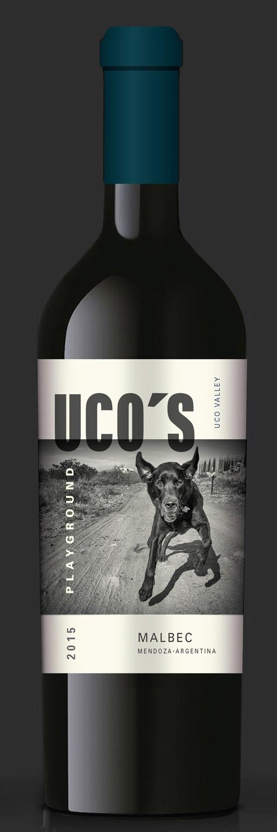 Nhãn Uco có hình ảnh của con chó Uco. # 85 của The Kings Jewels