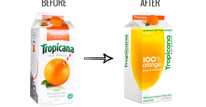 Tropicana hãng nước cam nổi tiếng phải chịu lỗ 50tr USD để qauy về bao bì cũ vì khách hàng không nhận dạng được trên kệ hàng siêu thị