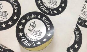 Đặc điểm nhãn decal dán ly cafe trà sữa, sữa chua, bánh, mỹ phẩm