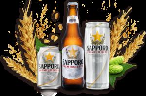 Kiểu font chữ nhãn bia Saporo